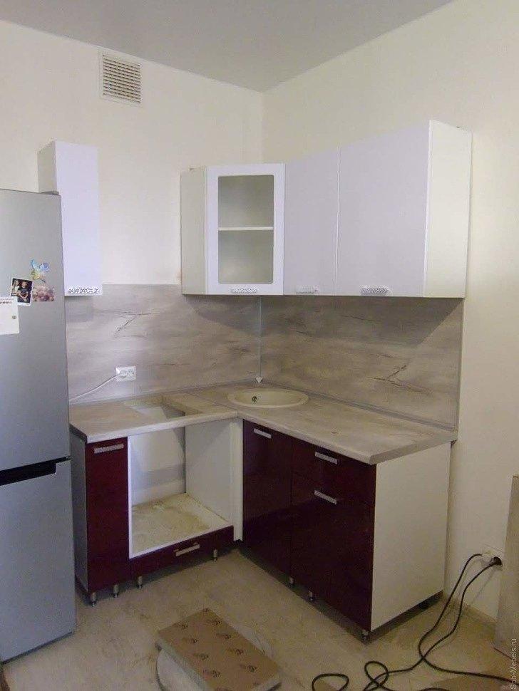 Маленькая угловая кухня фото