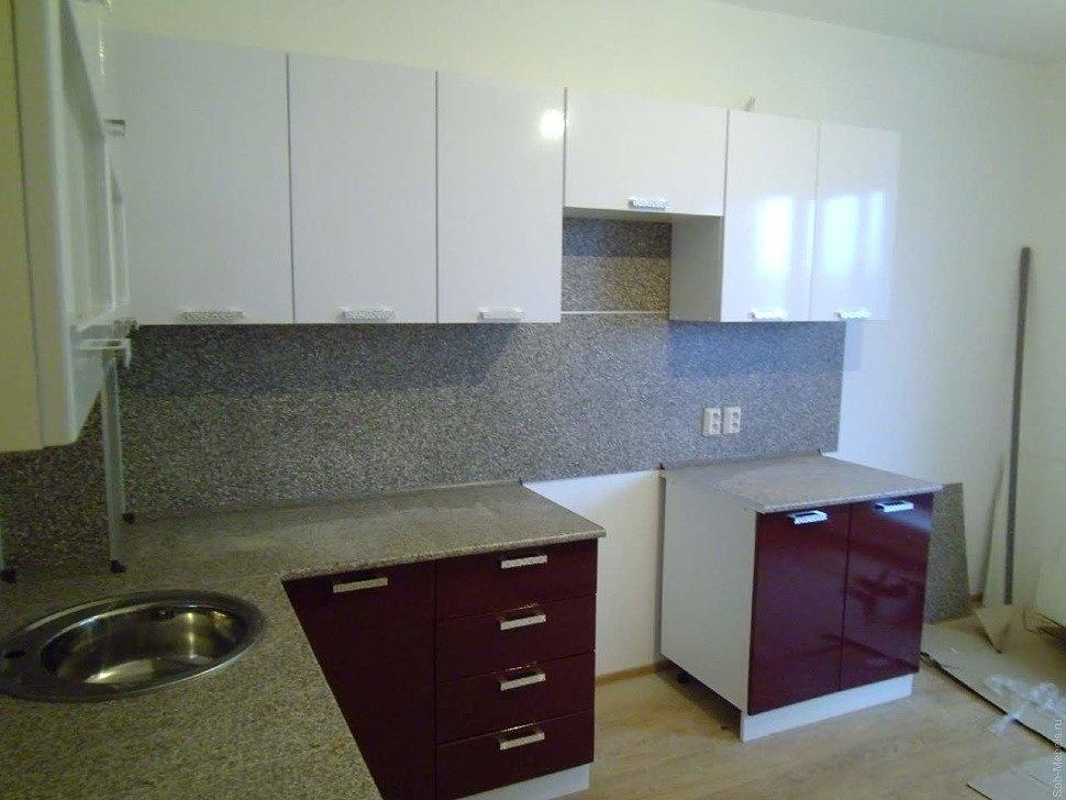 Кухня глянцевая фото клиента