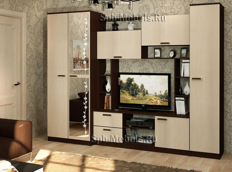 гостиная стенка флора купить в интернет магазине мебели по цене 12
